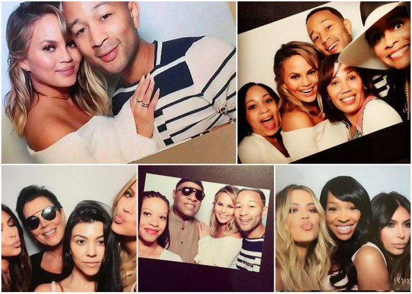 John Legend And Chrissy Teigen Celebrate Baby Shower With Stevie Wonder, The Kardashians & More