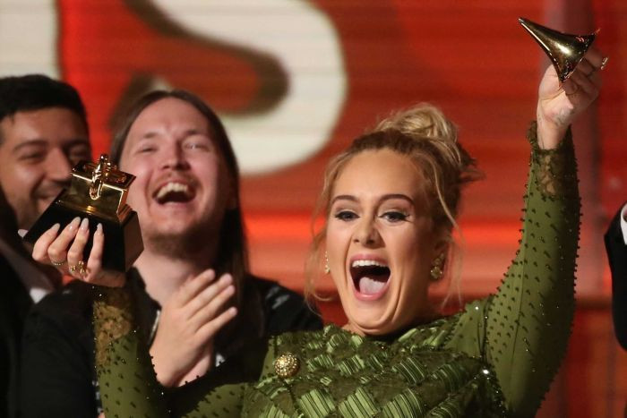 59th Grammy Awards 2017: Adele Hails Beyonce During Her Record of the Year Acceptance Speech