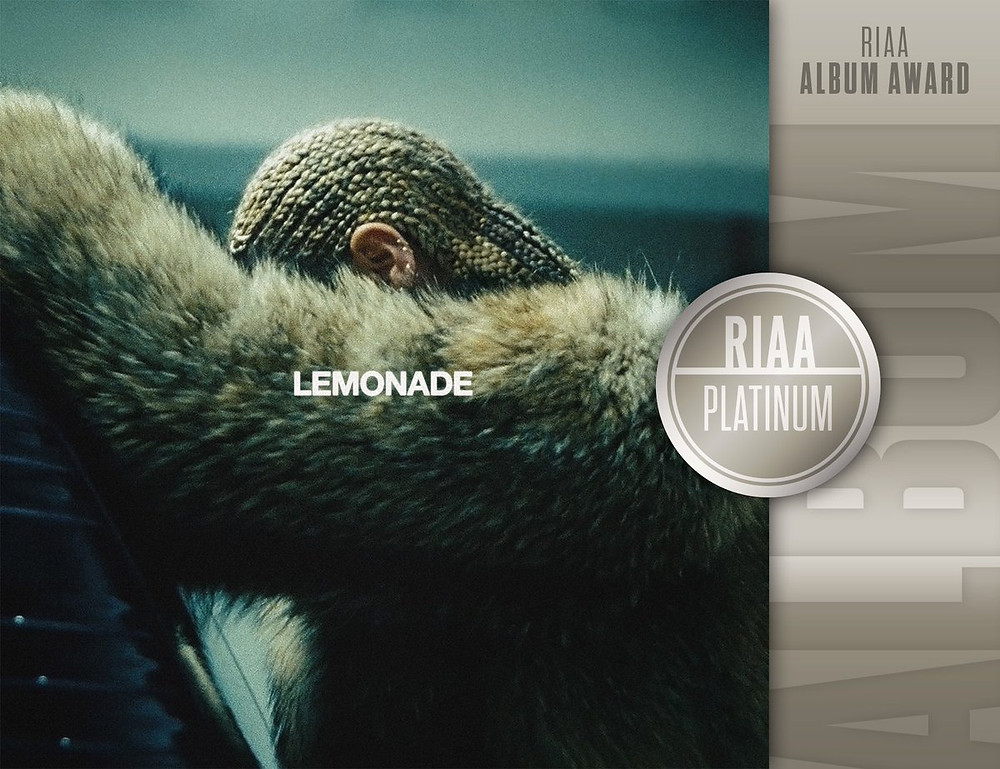 "Beyonce's ""Lemonade"" Album Certified Platinum"