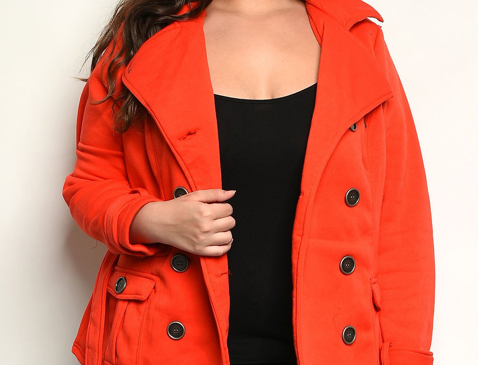 Red Plus Size Jacket