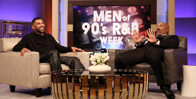 "Steve wrapped up ""Men of 90's R&B Week"" with GINUWINE"