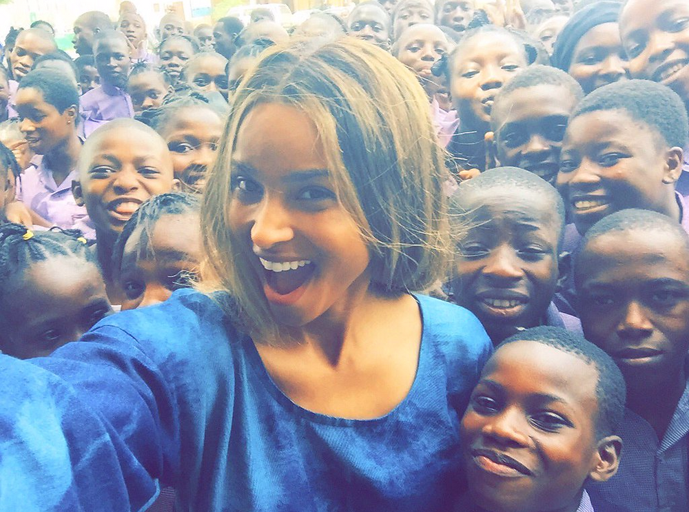 Ciara In The Streets Of Lagos, Nigeria
