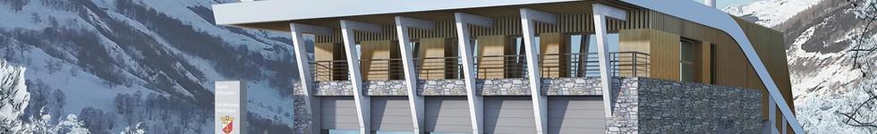 CONSTRUCTION DE LA STEP DES MENUIRES/VAL THORENS A ST MARTIN DE BELLEVILLE (73)