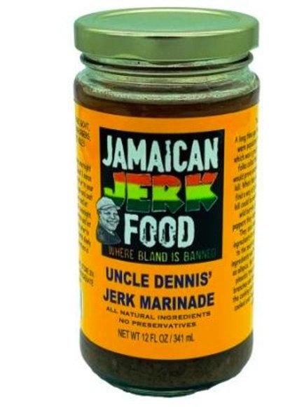 Uncle Dennis Jerk Marinade 12 oz. Jar