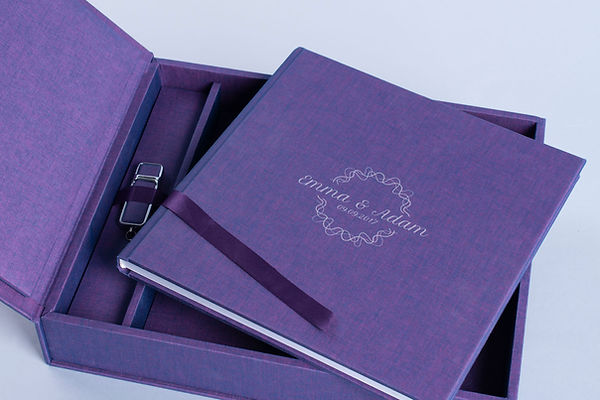 Complete Album Set Fotoalbum Album Box USB-Stick Flash Drive 3 in 1 Kollektion Gamma Cover