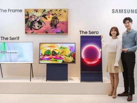 Samsung dio un salto hacia la TV vertical.