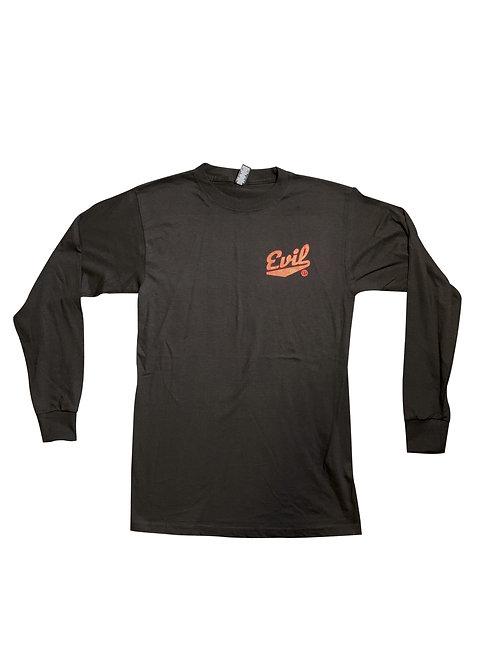 Evil E Long Sleeve - Black w/ red logo