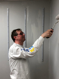 Painting the new staff offices