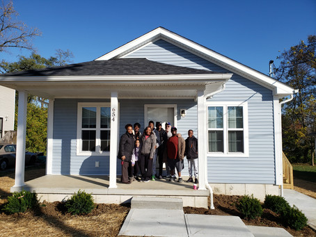 St. Barnabas, Habitat volunteers complete new house for a family