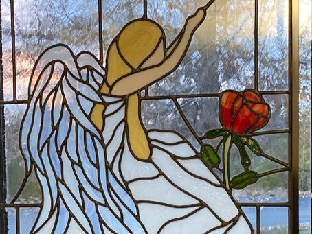 New Stained Glass Window Graces Chapel Hallway