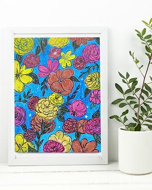 Gouache Flowers Painting