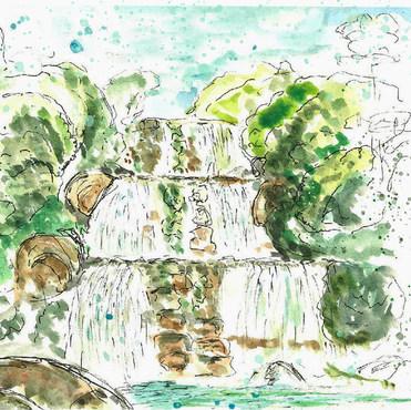 Lyng Ksiar waterfalls, India
