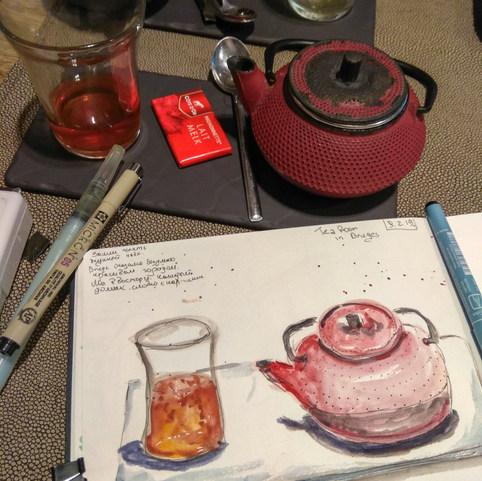 Tea Time in Brugges, Belgium