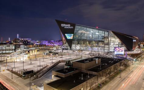 Twilight of US Bank Stadium