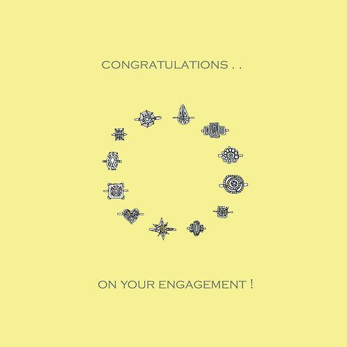wedding engagement - rings (yellow)