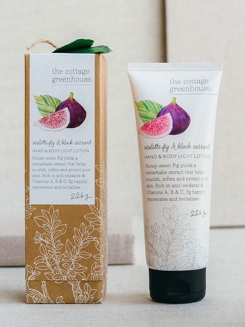 Cottage Greenhouse - Violet fig & Black currant hand lotion