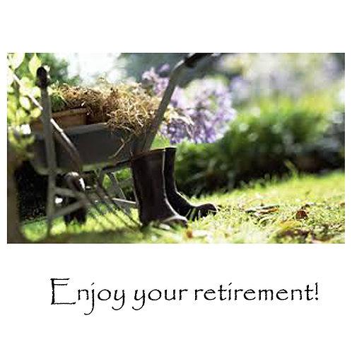 retirement - garden boots