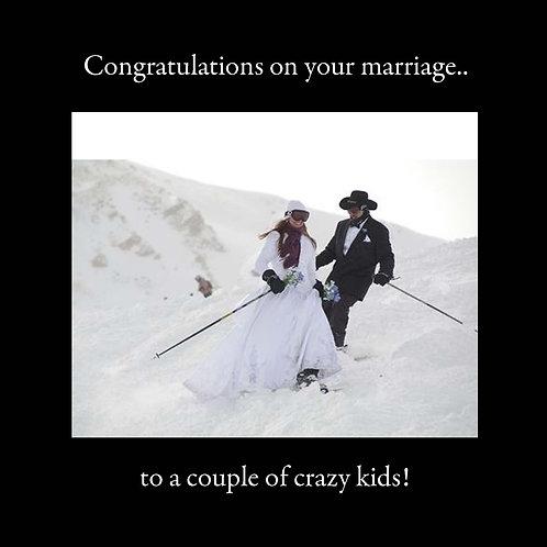 wedding - skiing nuptuals