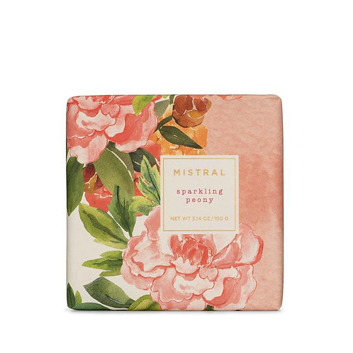 Mistral Exquisite floral Champagne Peony petite gift soap