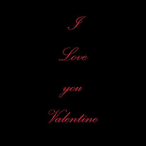 Valentines - red on black
