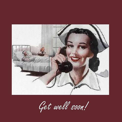 get well - retro nurse