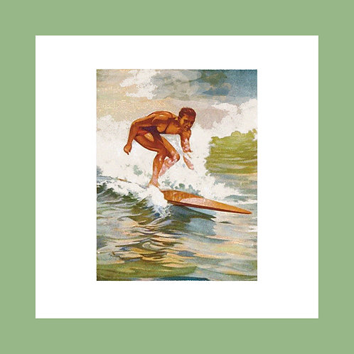 Vintage Hawaiian surfer