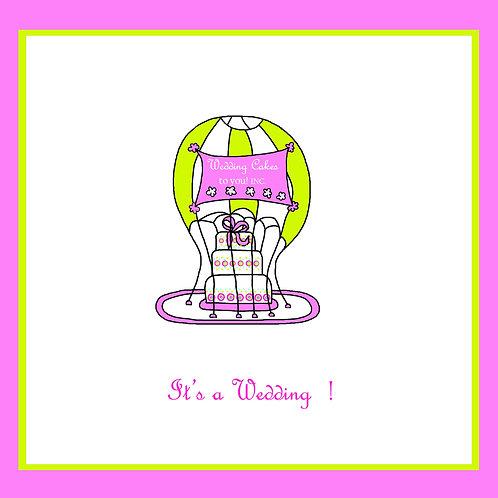 wedding - parachute cake