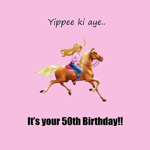 50th barbie horsey