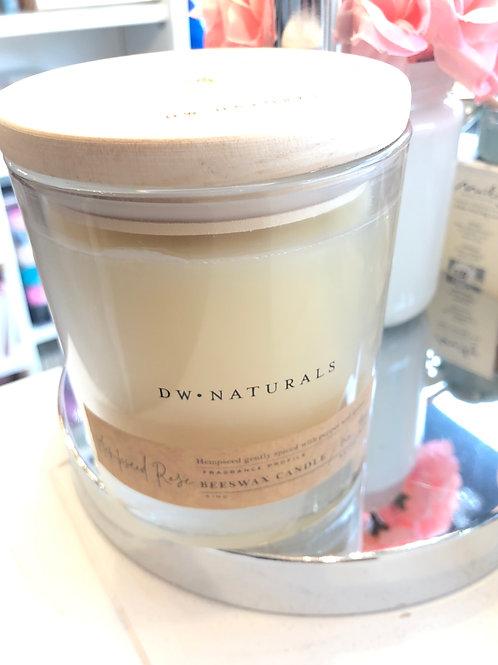 Decorware Home Hempseed Rose 100% Beeswax candle
