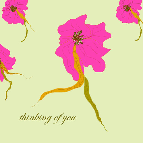 sympathy (thinking of you) - pink blossum