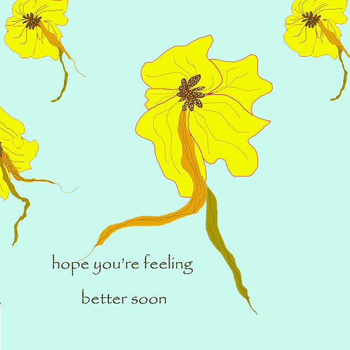 get well - yellow hawaiian flower