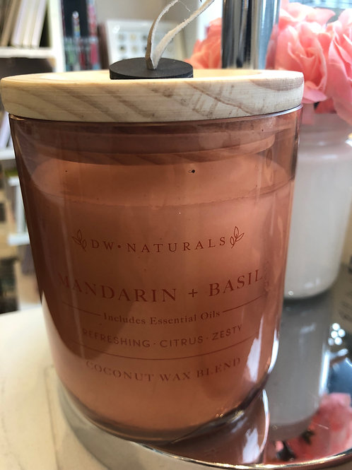 DW Home Mandarin & Basil coconut wax candle
