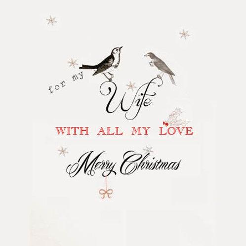 Christmas birds (wife)
