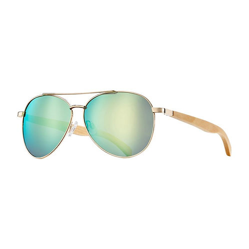 Amador sunglasses with beechwood temples