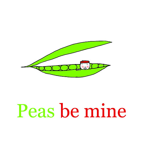 Valentines - Peas be mine