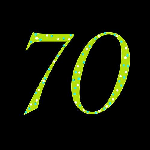 70th green polka-dots