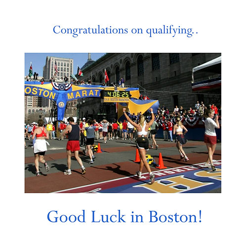 running - good luck in Boston