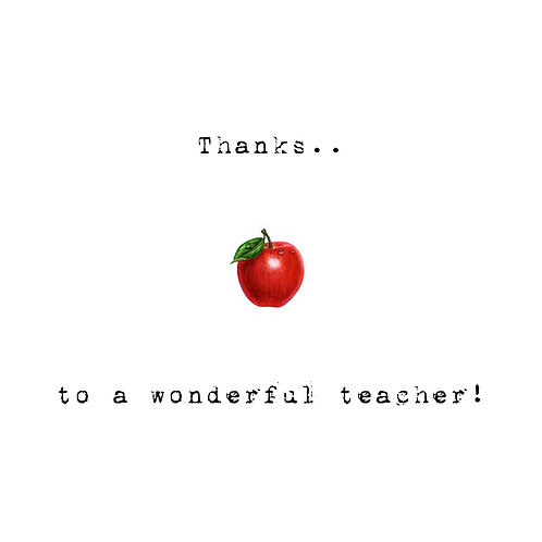 thanks teacher - apple