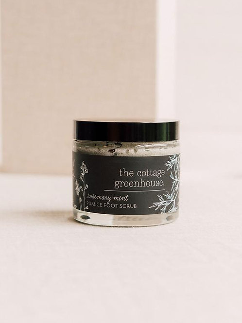 Cottage Greenhouse - Rosemary mint pumice foot cream