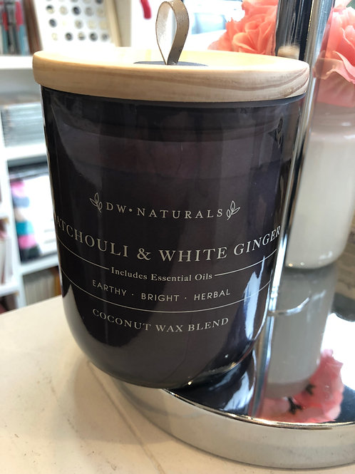 DW Home Patchouli & white ginger coconut wax candle