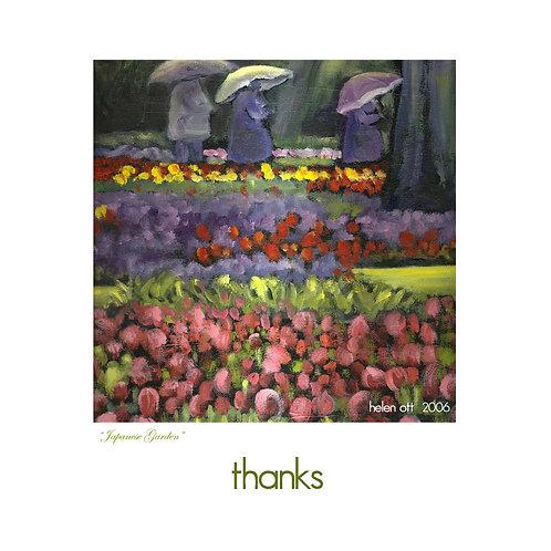 thanks - UBC Japanese gardens - Helen Ott
