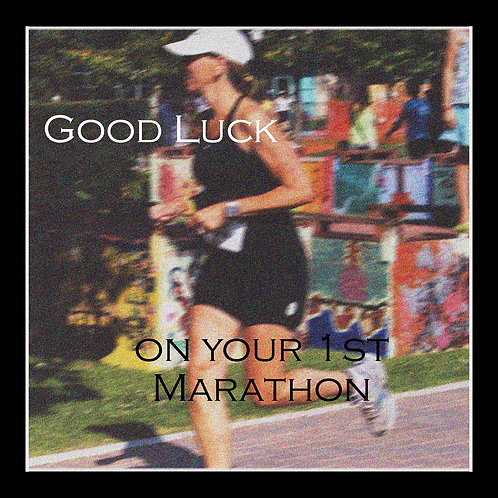 running - good luck 1st marathon