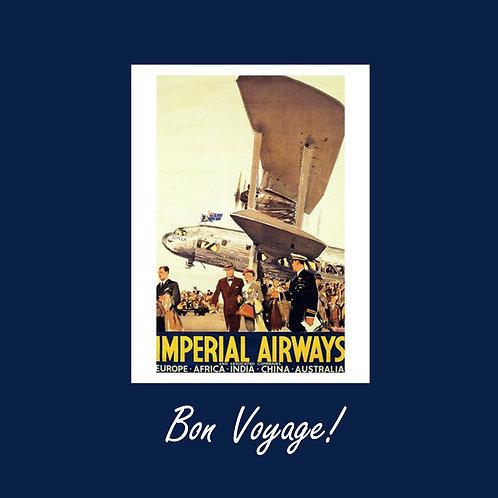 bon voyage - vintage Imperial airways