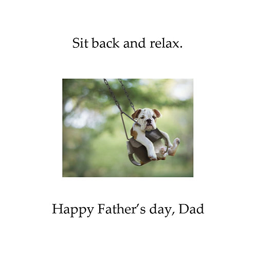 Father's day - dog swing