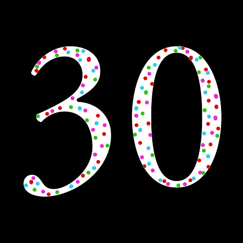 30th polka-dot