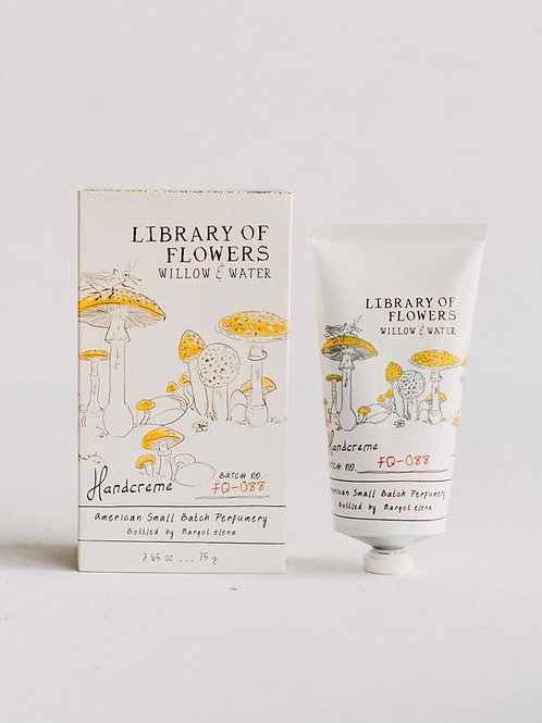 Library of flowers - Willow & Water hand creme