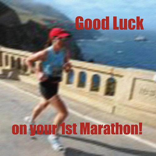 running - 1st marathon (Big Sur)