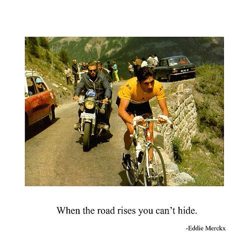 cycling - Eddie Mercks - when the road rises