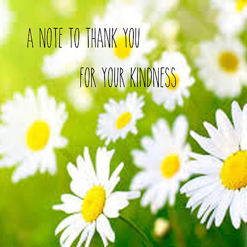 thanks - sunflowers