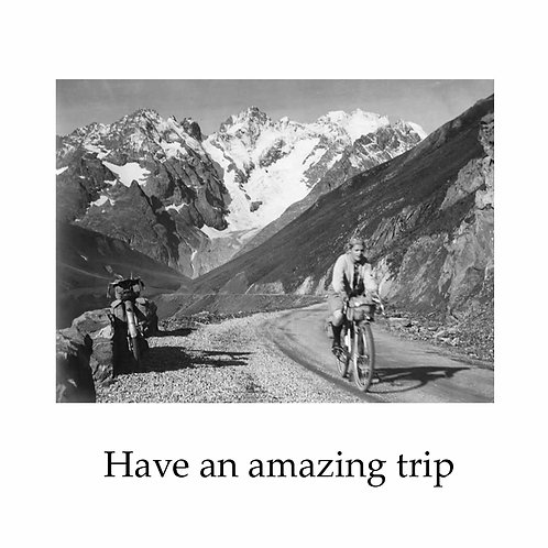 bon voyage - cyclist in the Alps